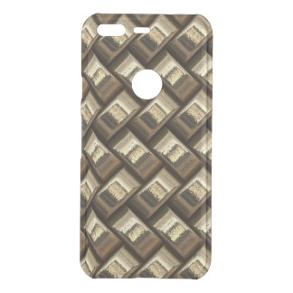 Metal weave golden basketwork uncommon google pixel case