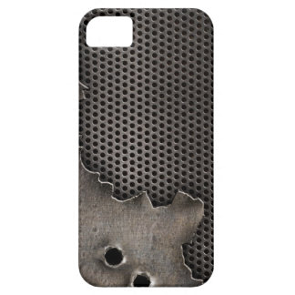 Metal with bullet holes background iPhone 5 cover