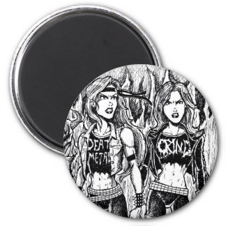 Metal Women Magnet