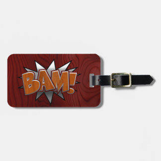 Metal-Wood-BAM! Luggage Tag