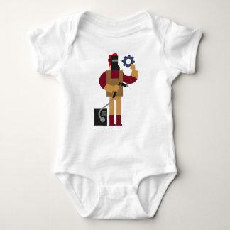 Metal Worker Baby Bodysuit