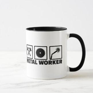 Metal worker mug