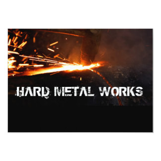 "Metal works 5"" x 7"" invitation card"