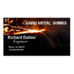 Metal works business cards