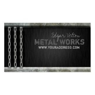Metal Works Engineer Heavy Chain Business Card