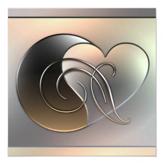 "Metal Works -  Valentine 5.25"" Square Invitation Card"