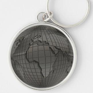 Metal World Globe Keychain