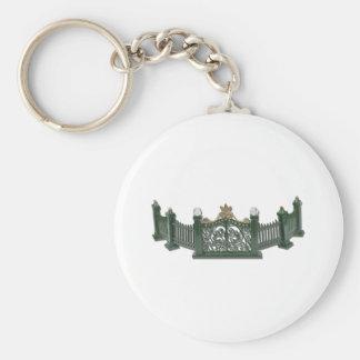 MetalCurvedFence123111 Basic Round Button Keychain