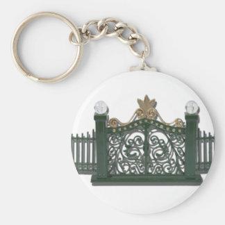 MetalFenceAndGate123111 Basic Round Button Keychain