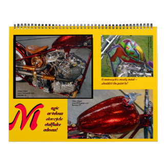 Metalflake Madness Huge Size Motorcycle Paint 2014 Wall Calendar