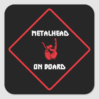 Metalhead On Board Sticker