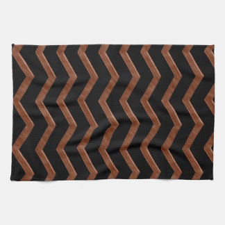 Metalic Bronze Zig Zag Pattern Kitchen Towel