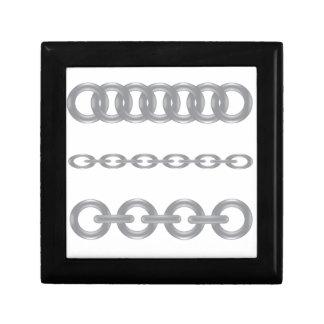 metalic  chain gift box