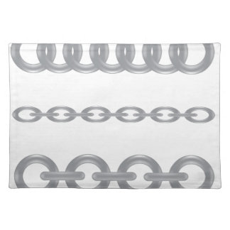 metalic  chain placemat