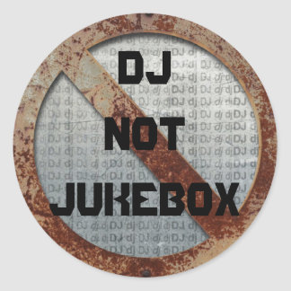 Metalic DJ not jukebox sticker