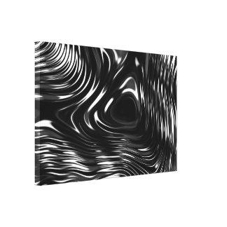 Metalic Liquid in Black and White Canvas Print