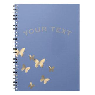 Metalised butterflies notebooks