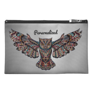 Metalized Owl Art Travel Accessories Bags