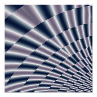 Metallic abstract fractal poster