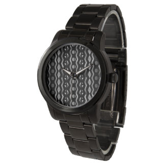 METALLIC AFRICA ABSTRACT#1 silver Watch