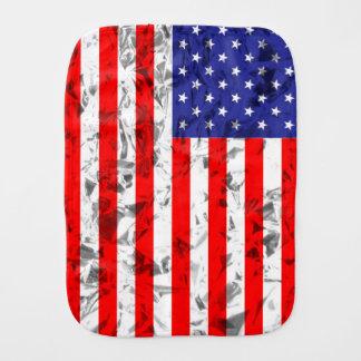 Metallic American Flag Design 2 Baby Burp Cloth
