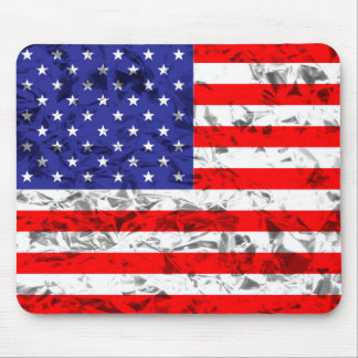 Metallic American Flag Design 2 Mouse Pad
