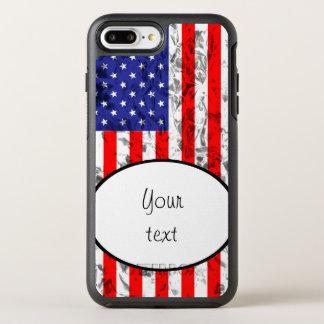 Metallic American Flag Design 2 OtterBox Symmetry iPhone 7 Plus Case