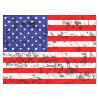 Metallic American Flag Design 2 Tissue Paper