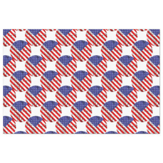 Metallic American Flag Design 2 Tissue Paper