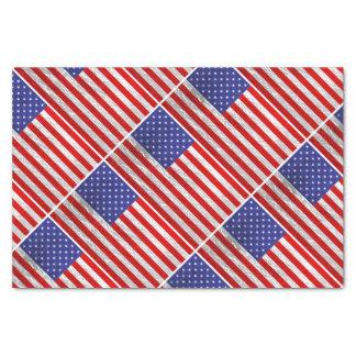 Metallic American Flag Design Tissue Paper