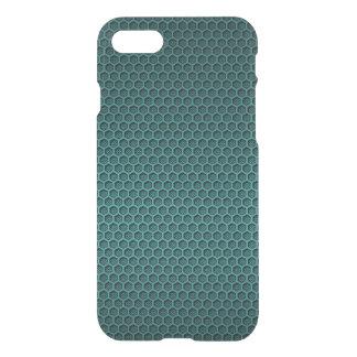 Metallic Aqua Blue Graphite Honeycomb Carbon Fiber iPhone 8/7 Case