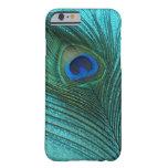 Metallic Aqua Blue Peacock Feather