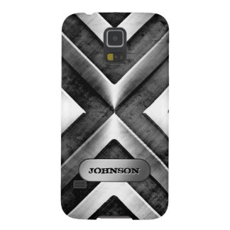Metallic Armor with Name Plate - Military Pattern Galaxy S5 Cover