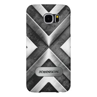 Metallic Armor with Name Plate - Military Pattern Samsung Galaxy S6 Cases