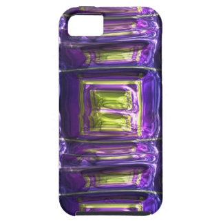 Metallic Art Crushed Multicolor Metal Foil Case For The iPhone 5