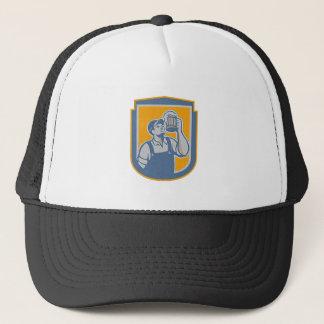 Metallic Bartender Toast Beer Mug Shield Retro Trucker Hat