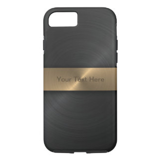 Metallic Black And Gold iPhone 7 Case