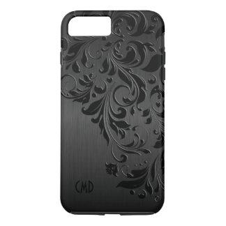 Metallic Black & Black Lace iPhone 8 Plus/7 Plus Case