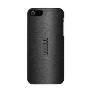 Metallic Black Brushed Aluminum Look Incipio Feather® Shine iPhone 5 Case