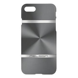 Metallic Black Print Silver Accent iPhone 8/7 Case