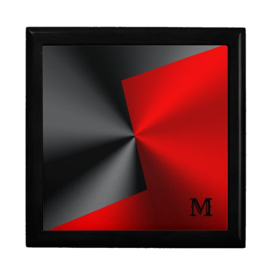 Metallic Black & Red Stainless Steel Gift Box