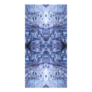 Metallic Blue Custom Photo Card
