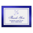 Metallic Blue Dove Holy Communion Or Confirmation Card