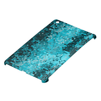 Metallic Blue-Green Sequins Look Disco MirrorsBall Case For The iPad Mini