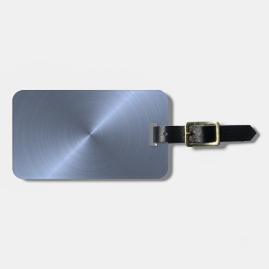 Metallic Blue Luggage Tag
