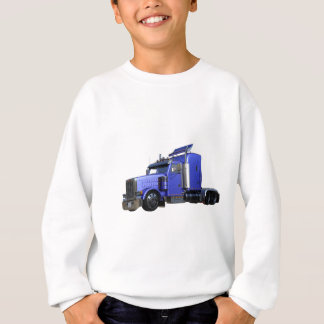 Metallic Blue Semi Tractor Trailer Truck Sweatshirt