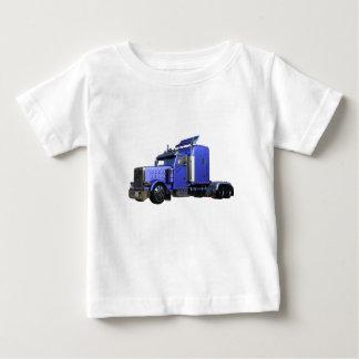 Metallic Blue Semi Truck In Three Quarter View Baby T-Shirt