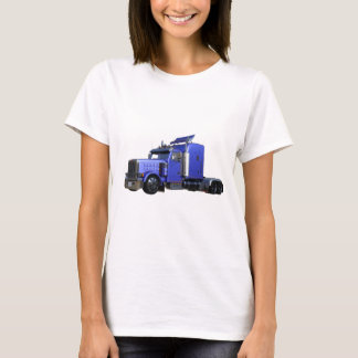Metallic Blue Semi Truck In Three Quarter View T-Shirt
