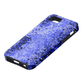 Metallic Blue Sequins Look Disco Mirrors Bling iPhone 5 Cover
