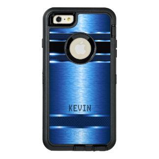 Metallic Blue Texture Modern Geometric Design OtterBox iPhone 6/6s Plus Case